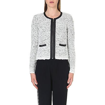 JOIE Jacolyn tweed jacket (Chalk/caviar