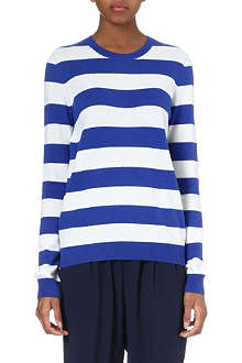 JOIE Valera striped wool-cashmere jumper