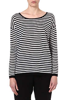 JOIE Adalene striped knitted jumper