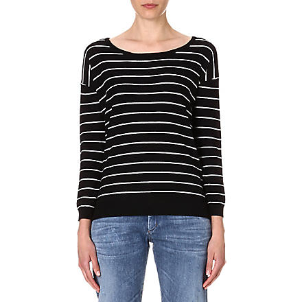JOIE Emele striped jumper (Caviar/ porcelain