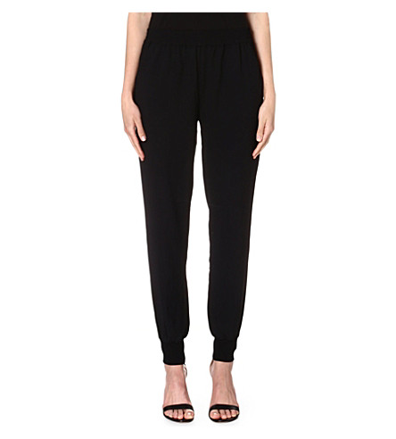 JOIE Diara crepe trousers (Caviar