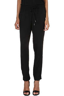 JOIE Maxi crepe jogging bottoms
