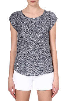JOIE Rancher feather print top