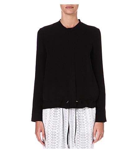 JOIE Braelyn silk jacket (Caviar