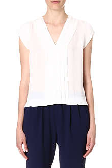JOIE Marcher pleated silk top