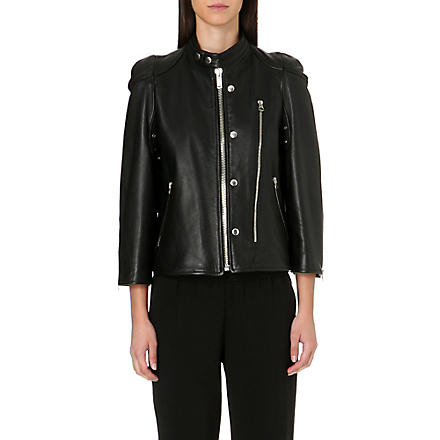 GOLDEN GOOSE Alma leather jacket (Black