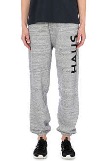 GOLDEN GOOSE Branded cotton-jersey jogging bottoms