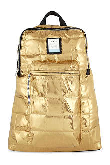 GOLDEN GOOSE Metallic quilted backpack