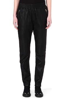 OAK Rider perforated-leather trousers