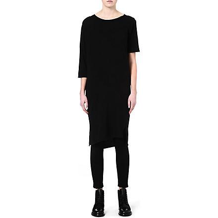 OAK Long drop-shoulder t-shirt (Black