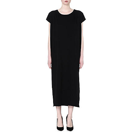 OAK Side split maxi dress (Black