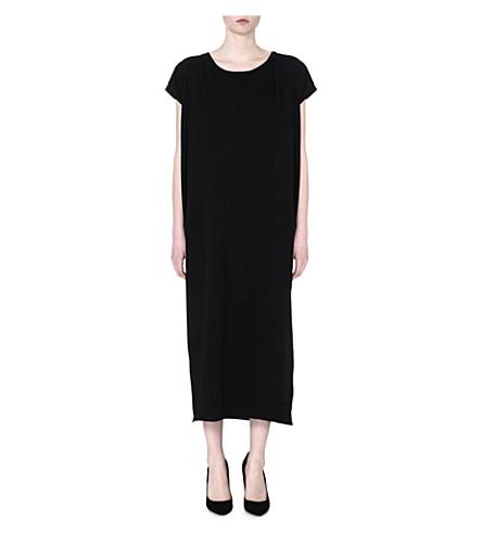 OAK Side split maxi dress (Black