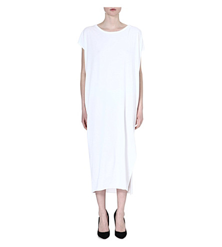 OAK Side split maxi dress (White
