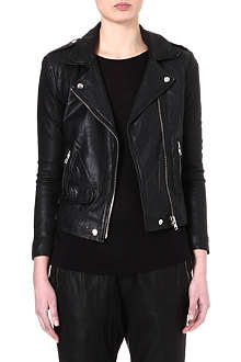 OAK Rider perforated-leather biker jacket