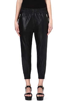 OAK Leather rider trousers