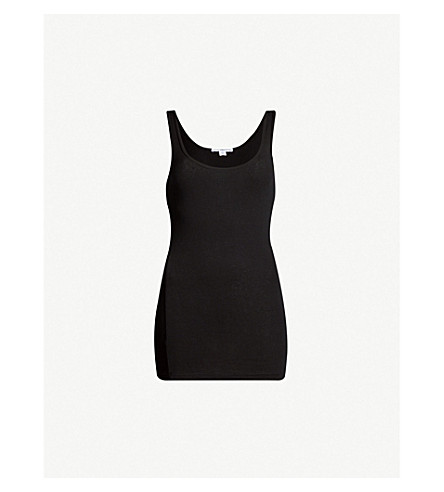 JAMES PERSE Long stretch-cotton vest (Black