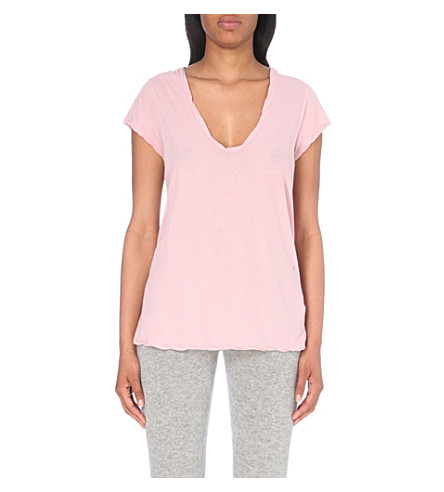 JAMES PERSE Loose-fit cotton-jersey t-shirt (Antique+rose