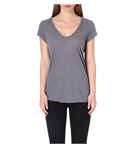 JAMES PERSE V-neck cotton-jersey t-shirt (Quarry