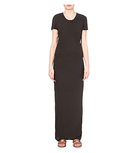 JAMES PERSE Cotton-jersey maxi dress (Carbon