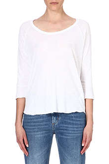 JAMES PERSE Linen-blend top