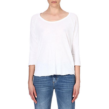 JAMES PERSE Linen-blend top (White