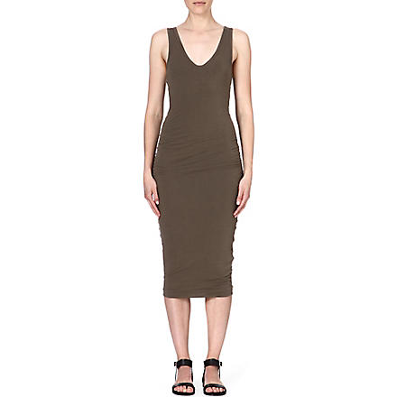 JAMES PERSE Stretch-cotton tank dress (Safari