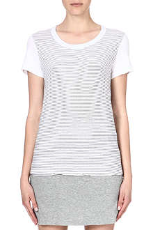 JAMES PERSE Striped jersey t-shirt