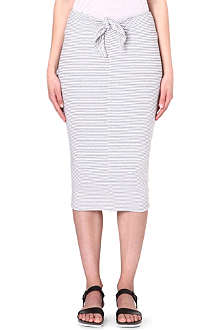 JAMES PERSE Tie-front striped skirt