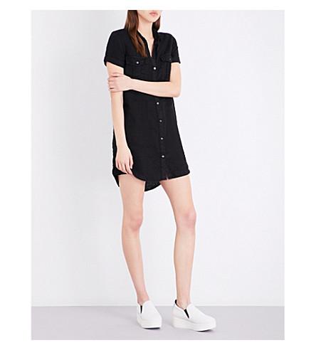 JAMES PERSE Utility linen shirt dress (Black