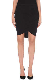 JAMES PERSE Twisted-hem jersey skirt