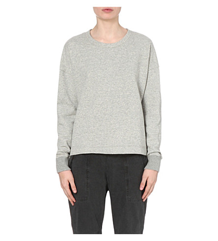 JAMES PERSE Cotton-jersey sweatshirt (Heather+grey