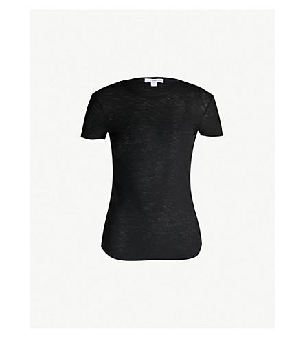 JAMES PERSE Crew-neck cotton T-shirt (Black