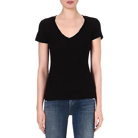 JAMES PERSE V-neck jersey t-shirt (Black