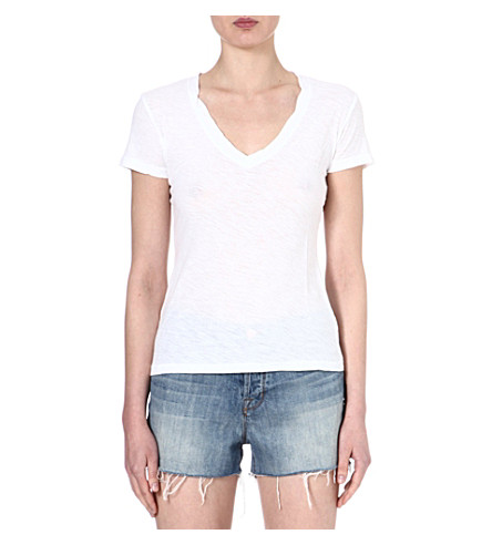 JAMES PERSE V-neck jersey t-shirt (White