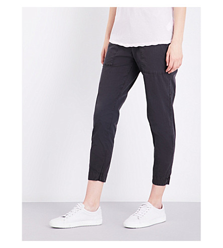 JAMES PERSE Relaxed-fit stretch-cotton trousers (Carbon