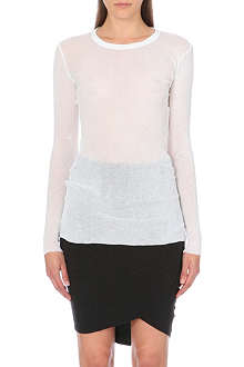 JAMES PERSE Semi-sheer long-sleeved top