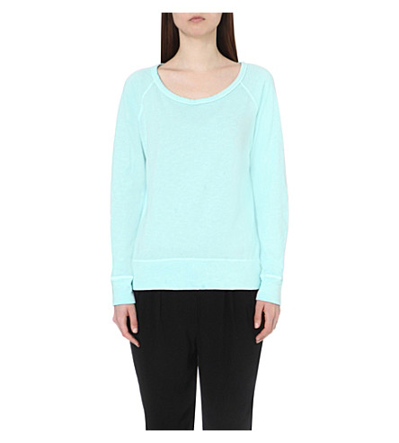 JAMES PERSE Scoop-neck cotton-jersey sweatshirt (Taffy