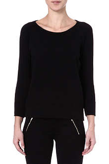 JAMES PERSE Striped rear fleece pullover