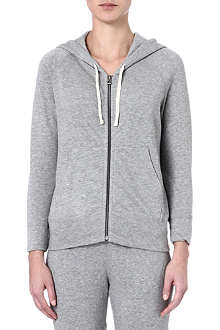 JAMES PERSE Striped rear fleece cotton hoodie