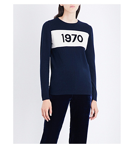 BELLA FREUD 1970 cashmere jumper (Navy