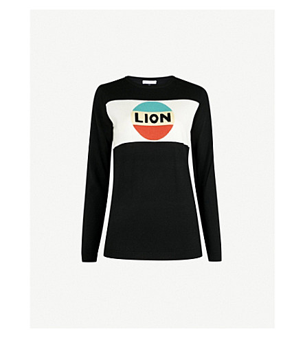 BELLA FREUD Lion wool jumper (Black