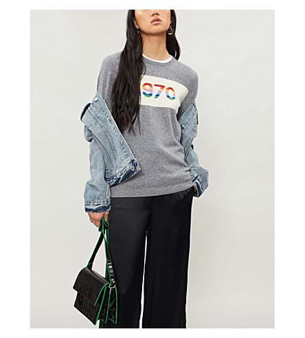 BELLA FREUD 1970 Rainbow cashmere-blend jumper (Grey+marl