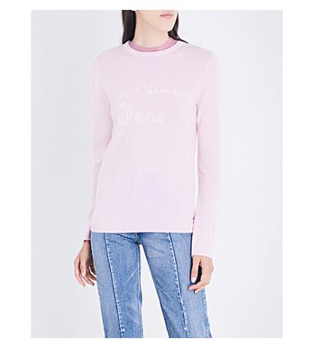 BELLA FREUD Je t'aime Jane cashmere sweater (Pale+pink