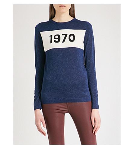BELLA FREUD 1970 metallic wool jumper (Blue+lurex