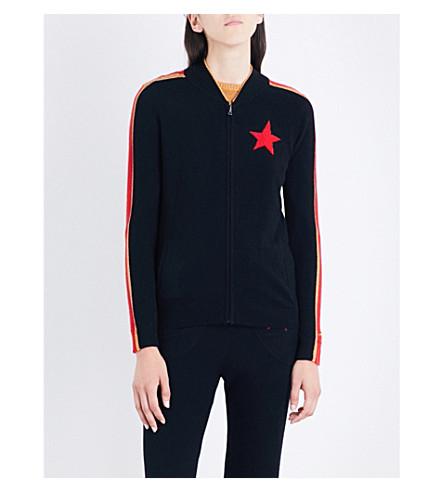BELLA FREUD Billie cashmere zip-up jacket (Black