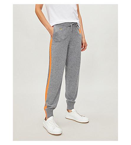 BELLA FREUD Billie cashmere jogging bottoms (Grey+marl+fluro+orange
