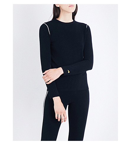 BELLA FREUD Jemima cashmere sweater (Black