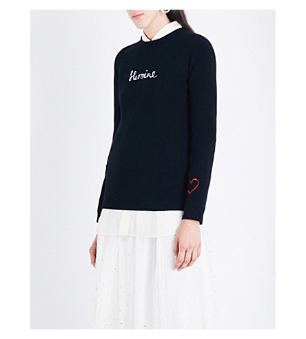 BELLA FREUD Heroine cashmere jumper (Black