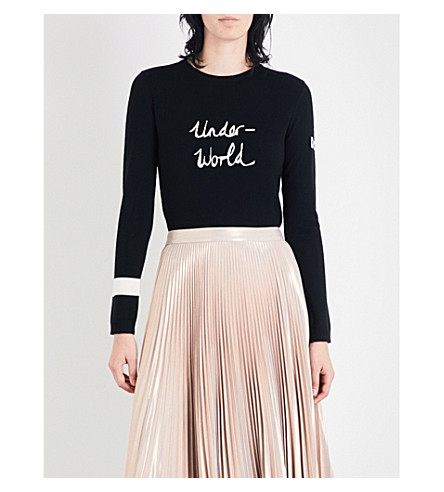 BELLA FREUD Underworld merino wool jumper (Black