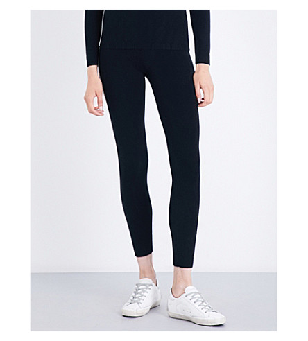 BELLA FREUD Jemima cashmere-blend leggings (Black